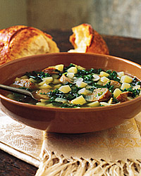Kale and Potato Soup with Turkey Sausage RecipeQuick From