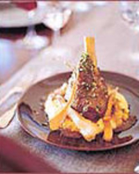 Braised Lamb Shanks with Tangerine Gremolata
