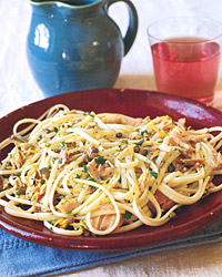 Linguine with Tuna, Capers, and Olives