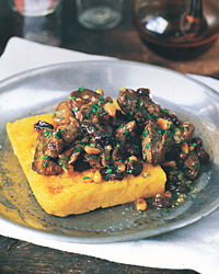 SautÉed Chicken Livers with Raisins and Pine Nuts