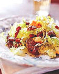 Frisée Salad with Sautéed Chicken Livers and Croutons