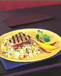 Mango-Jerk Tuna with Couscous