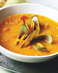 Curried Carrot and Mussel Soup