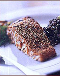 Mustard Seed-Crusted Salmon