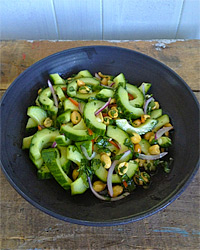 Thai Cucumber Salad with Peanuts Recipe -Justin Chapple | Food & Wine