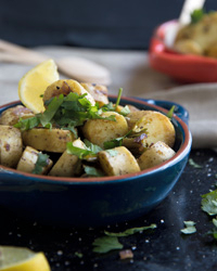 Fingerling Potato Hash with Mexican Flavors