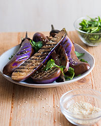 Soy and Sesame Grilled Eggplant