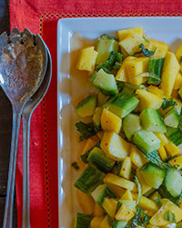 Mango-Cucumber Salad with Mint Recipe -Emily Farris | Food & Wine