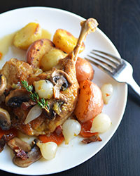 Apple Cider-Braised Duck Legs