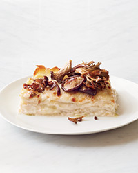 Creamy White Lasagna with Toppings