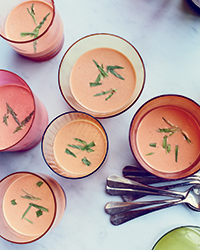 Shrimp Bisque with Muscadet and Tarragon