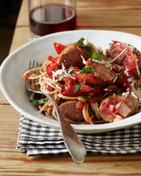 Whole-Wheat Spaghetti with Sausage and Peppers Recipe -Quick From ...