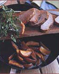 Molasses-Cured Pork Loin with Apples