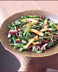 Warm Escarole and Radicchio Slaw with Sunflower Seeds