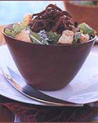 Caesar Salad with Crisp Shredded Pork