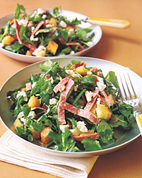 Watercress, Salami, and Goat-Cheese Salad