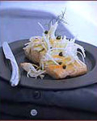 Salt-Baked Salmon with Fennel, Capers and Orange