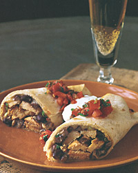 Sausage and Black-Bean Burritos