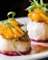 Poached Scallops with Tarragon Vinaigrette