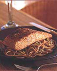 Sesame Salmon with Soba Noodles
