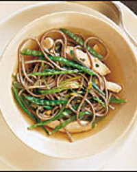 Soba in Green Tea with Chicken and Snow Peas | Food & Wine