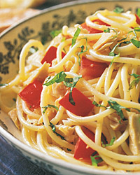 Spaghetti with Tuna and Fresh Tomato Sauce