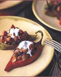 Black Bean and Chorizo Stuffed Chiles