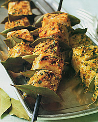 Grilled Swordfish Kabobs