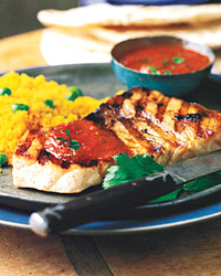 Grilled Swordfish with Charmoula