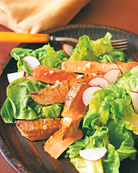 Seared-Tuna and Radish Salad with Lemon Vinaigrette