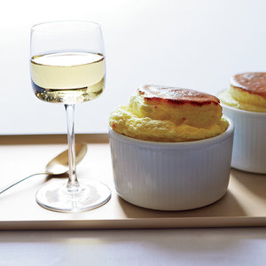 German Riesling with Cheese Soufflés