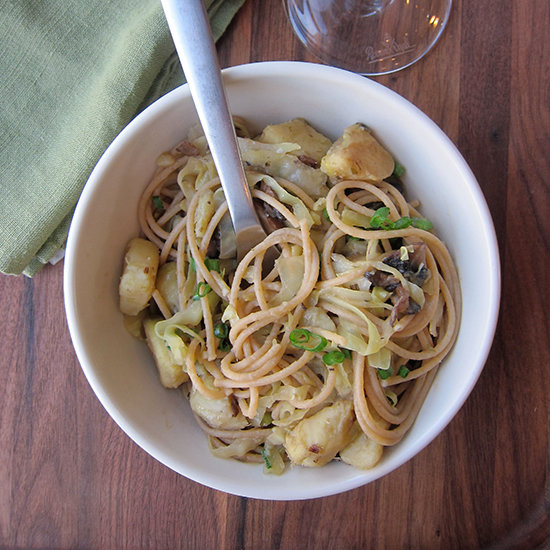 Winter Vegetable Pasta with Dolcetto