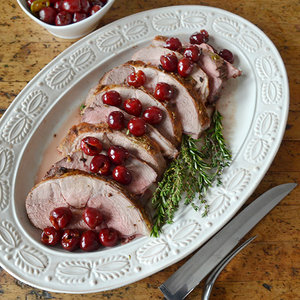 Andrew Zimmern's Passover Lamb with Pickled Cherries