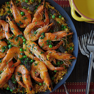 Andrew Zimmern's Simple Spring Paella