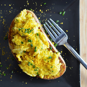 Soft-Scrambled Egg Toasts with Bottarga