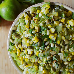 Corn and Green Tomato Salad