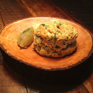 Husk's parsley-studded biscuit