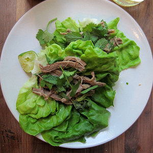 Flank Steak Lettuce Cups with Lightly Sweet Riesling