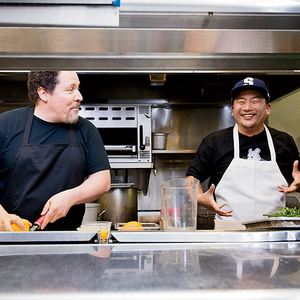 Jon Favreau and Roy Choi in the Kitchen