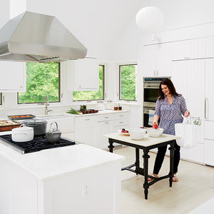 Susan Spungen in her East Hampton kitchen