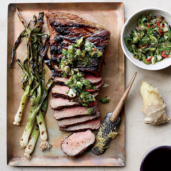 Tri-Tip Steak with Grilled Scallion, Ginger and Cilantro Relish