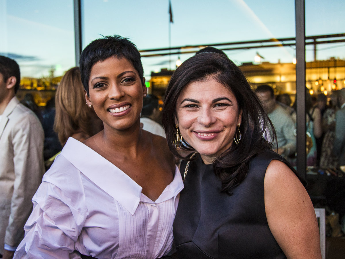Tamron Hall and Editor in Chief Nilou Motamed at the Food & Wine Classic in Aspen welcome reception.