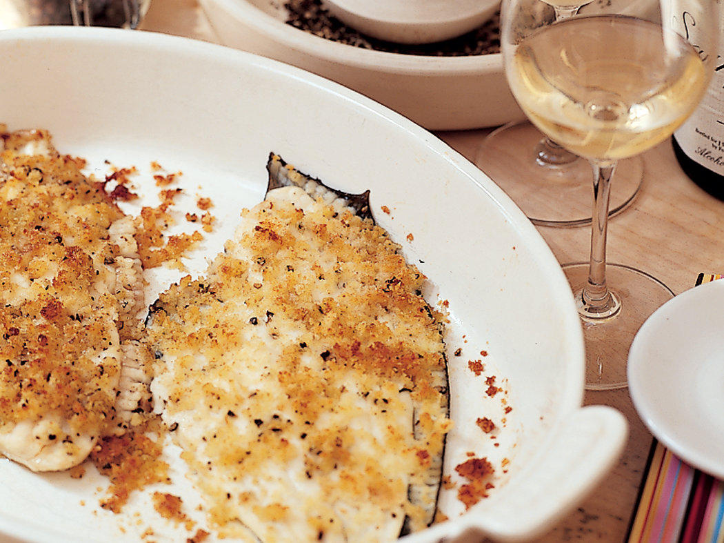 Baked Flounder With Parmesan Crumbs Recipe Nigel Slater