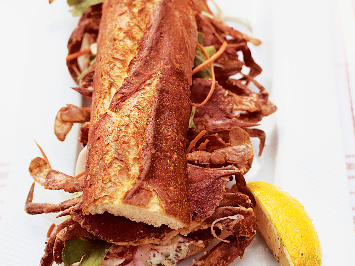 Soft-Shell Crab and Bacon Sandwiches