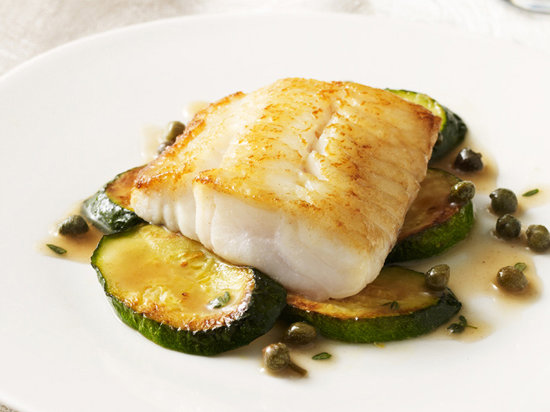 Vinegar poached sturgeon with thyme butter sauce recipe for Poaching fish in wine