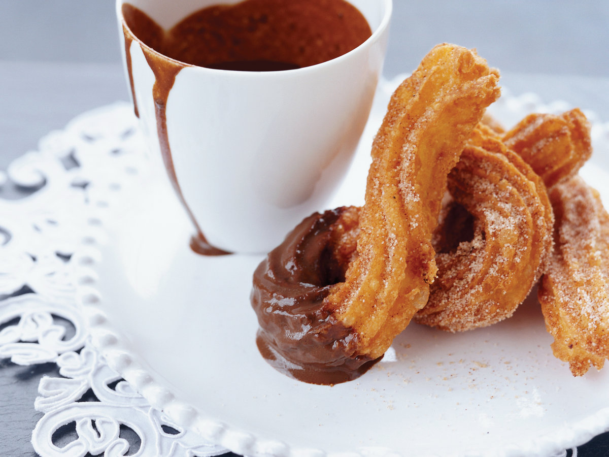 Warm Churros And Hot Chocolate Recipe Andrew Zimmerman