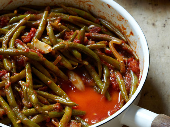 Braised Green Beans With Tomatoes And Garlic Recipe Rita