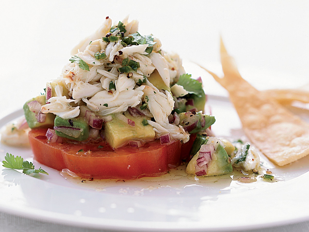 Chile-Lime Crab Salad with Tomato and Avocado Recipe - Sue ...