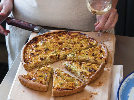 Bacon and leek quiche recipe grace parisi food wine forumfinder Gallery