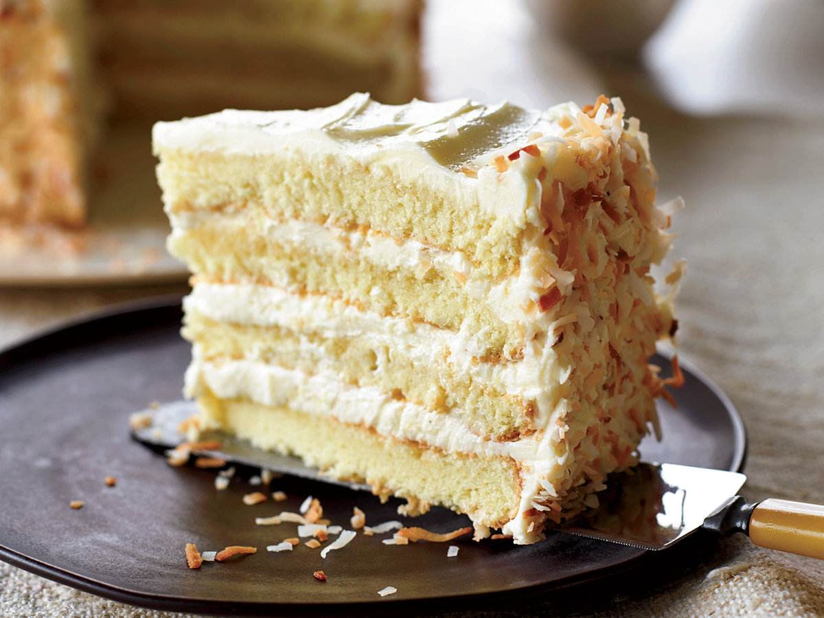 Cake Recipes In Pictures: Towering Coconut Layer Cake Recipe - Tyler Florence